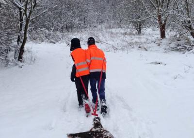 Jagd Wildbergung Winter