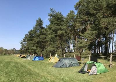 Rottstock Campwiese mit Zelten